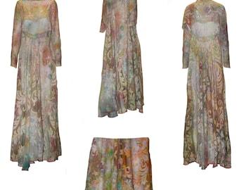 Lace Grace Palace- Tie dye Dress, Victorian Lace. Royal dinner