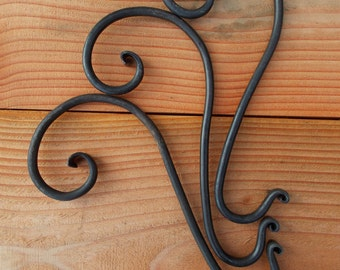 Christmas Stocking Hanger- Hand Forged Mantle Hook- ONE Hanger