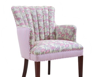 Refurbished Upholstered Arm Chairs
