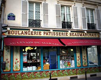 Paris Boulangerie Photo. French Country Photo. Beaumarchais Paris France. French Decor. Nursery Decor. Kitchen Decor. Wall Decor Home Decor.