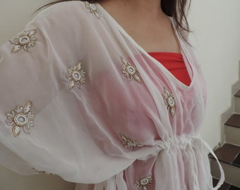 Embellished kaftan caftan, A perfect Beach coverup