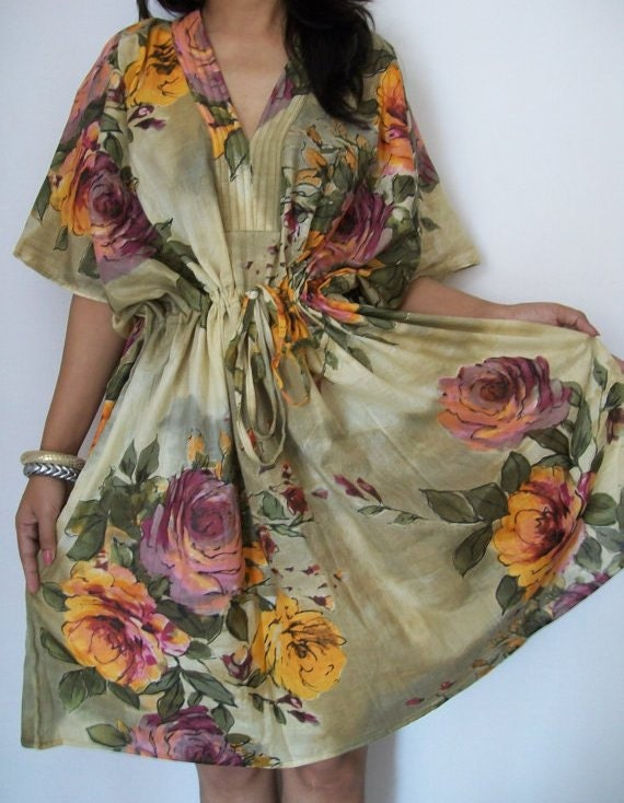 Floral Kaftan , Caftan, Perfect dress, Spa Robe, For to be Moms, beach cover up, Sleepwear, Best Gift for her