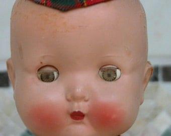 1950s Scottish Roddy Doll Super Sweet RODDY Doll Scottish Bagpipe Boy Walker Doll English Made in England
