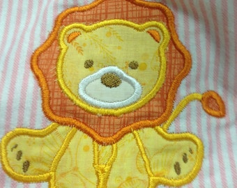 Baby Lion Applique Embroidery Design