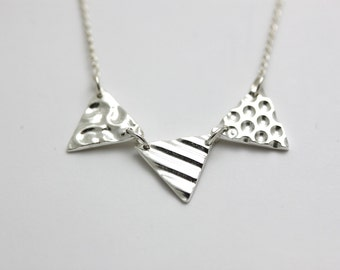 Bring Out The Bunting                                                                          - silver bunting necklace