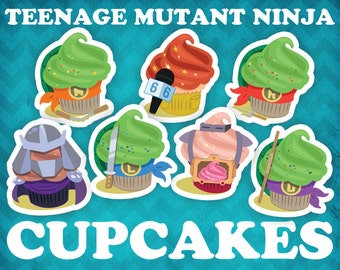Teenage Mutant Ninja Cupcake Stickers!