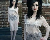 Vintage 80s All Over Lace Dress