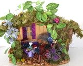 Enchanting ....Lady Bug Fairy House....Summer Home of the Elves....Fantasy....OOAK