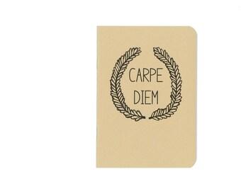 Carpe diem notebook - seize the day journal - latin phrase