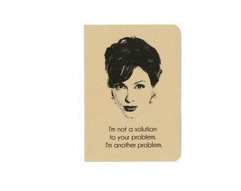 Joan Holloway notebook - Mad Men journal - Joan Harris - Christina Hendricks - problem and solution - Sterling Cooper Draper Pryce