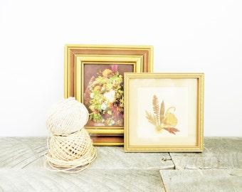 Vintage Art Collection - Pressed Flowers - Elegant - Flea Market Chic