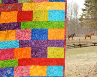 Large Lap Quilt Small Twin Size Quilt