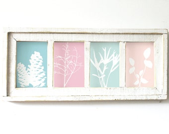 4 Opening 4x6 Wood Picture Frame Housewarming Gift Wedding Gift Rustic Decor Christmas
