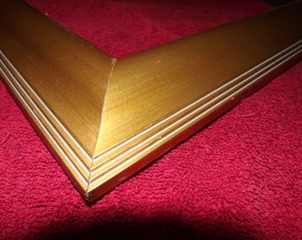 ONE 16 x 20 Ready to Ship Picture Frame ~  Gold Moulding ~ Larson Juhl Moulding ~ 2 1/4 inch Wide Profile x 1 1/4 tall x 5/8 inch deep