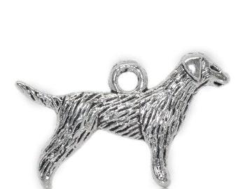 5 Pieces Antique Silver Labrador Retriever Dog Charms