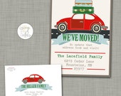 Retro moving announcement printable Change of address announcement Modern moving announcement New home card Unique moving announcement