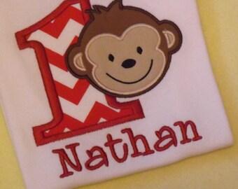 Monkey birthday T-shirt or Bodysuit