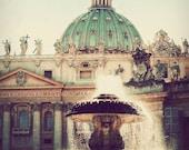 St. Peter's Basilica - Rome photograph, Vatican, fine art photography, travel photo, pastel, Italy art, home decor