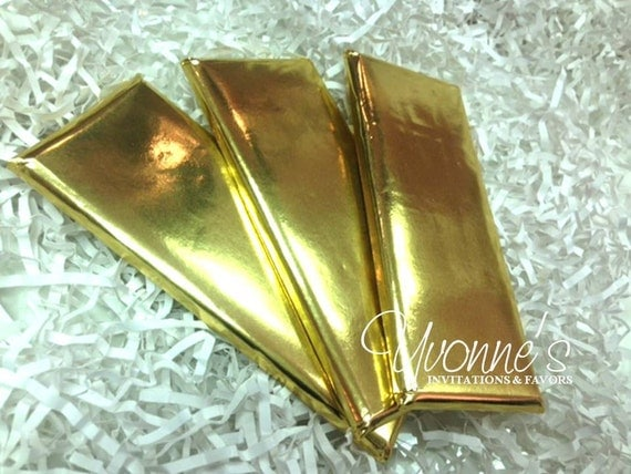 Chocolate Candy Bar Foil Gold 1 55 Oz Sheets Set Of 20