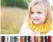Toddler Infinity Scarf - 2 for 28 Dollars - Toddler Scarf - Toddler Cowl - Baby Scarf  - Children's Infinity Scarf - Choose Your Colors