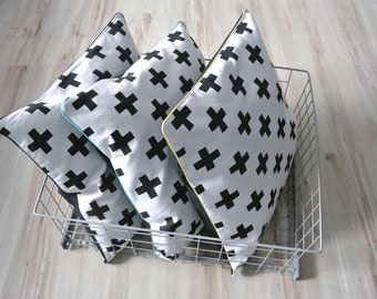 SALE: Decorative pillow cover, pillowcase, cushion cover, black&white,
