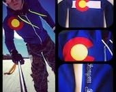 Colorado hoodie 2017 Co Flag custom   3 layer sewn flag zippered sweatshirt jacket sweater