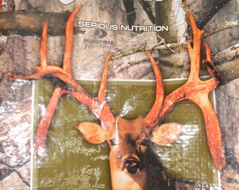 Deer Tote ~ Feed Bags upcycled into sturdy, reusable totes.