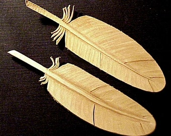 Tooled Leather Feathers