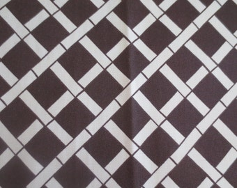 Outdoor / Indoor Pillow Cover Dark Brown and Cream Bamboo Print