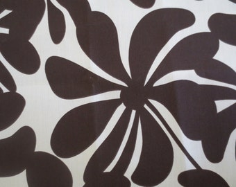 OUTDOOR Pillow Cover in a Brown and Cream Floral Print / Brown Pillow Cover