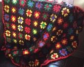 Peruvian Granny Square Blanket