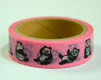 1 Roll of Japanese Washi Tape: Panda