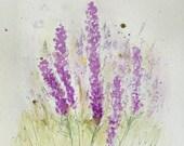 Original Watercolor Painting - Lavender Floral