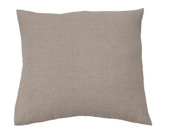 Flax pillow cases - natural pillowcases - natural pillowcases - square pillowcases - euro pillowcases - linen euro shams - flax euro shams