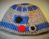 Made to Order: Space Robot Beanie Hat, Baby, Child, Teen, Adult