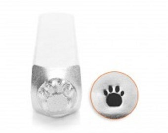 Small Paw Print Metal Design Stamp Impressart Metal Jewelry Punch for jewelry blanks