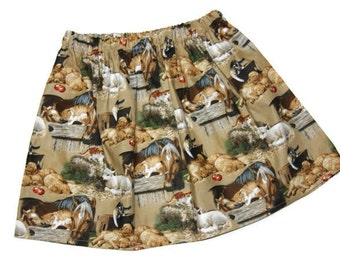 Sz 5 Horses Ready to Ship Baby, toddler, and girls twirl skirt  Puppies, Horse, Barn Cat, Western, Boots