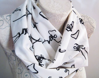 Abstract Scarf , İvory Scarf