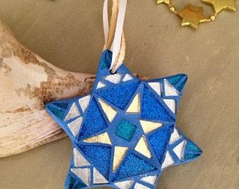 Star of David Chanukah Gift, Jewish Holidays Gifts, Hanukkah Decor, Star of David Ornament