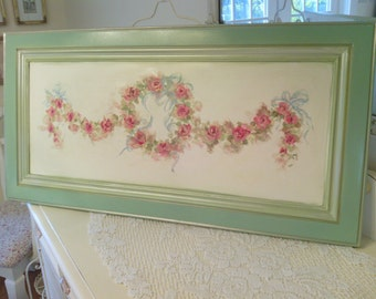 Cottage Chic  Rose Wall Decor