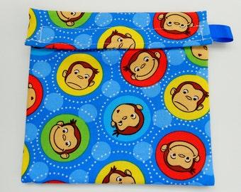 Curious George Monkey Reusable Sandwich bag