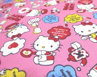 Japanese Fabric Hello Kitty Kitchen Pink FQ