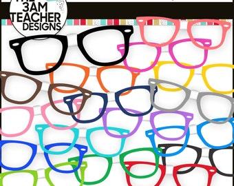 Nerdy Glasses Clip Art Set
