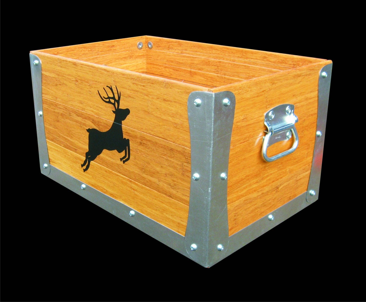 Decorative Kindling Box : Decorative wooden tool crate hearth box kindling by