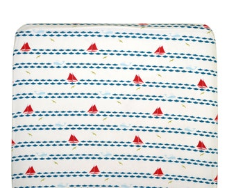 100% Organic cotton sail boats fitted sheets