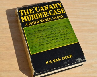 "The ""Canary"" Murder Case A Philo Vance Story by S.S. Van Dine 1927 Vintage Photoplay book with dust jacket starring William Powell"