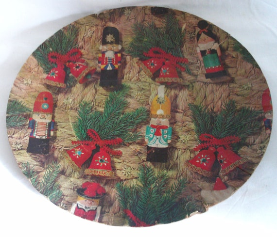 Western Germany PAPER vintage cookie plate