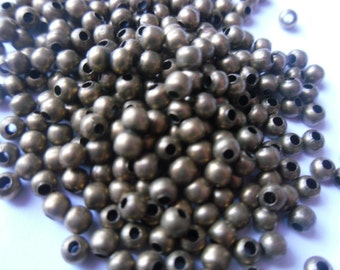 100, 200 or 500 4mm Bronze Spacer Beads    -S3SB2