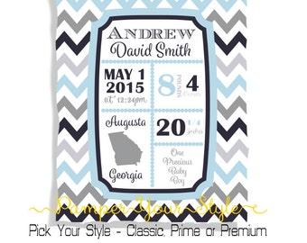 Birth Announcement Blanket - Baby Blanket - Baby Shower Gift - Baby Blanket - Announce the Birth Uniquely - Baby Blankie