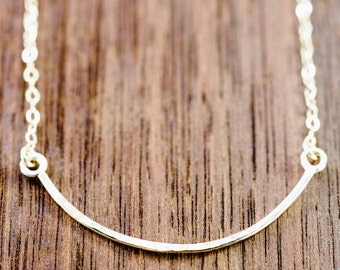 Aukai necklace - gold bar necklace, delicate gold necklace, everyday gold necklace, minimal gold necklace, simple necklace, hawaii jewelry